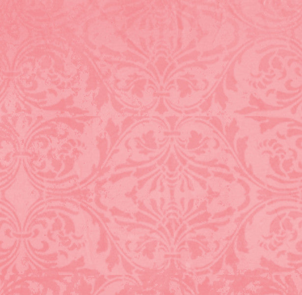 *GBPDM8 - Gerber Daisy Pink Damask 8 1/2 x 11 - One Sheet
