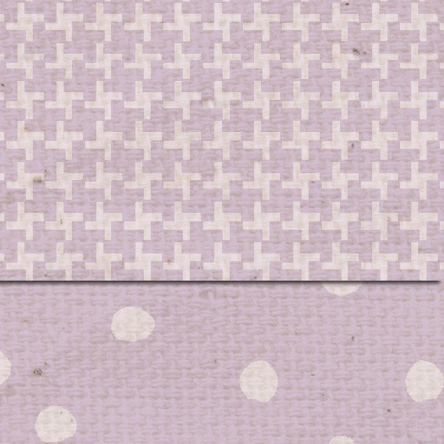*DSVLMT Vintage Lilac Martha Dots & Tweed Double Sided Cardstock