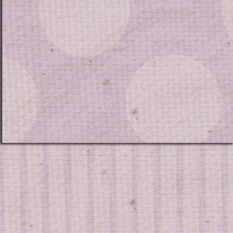 ***Vintage Lilac Dots & Stripes Double Sided Cardstock