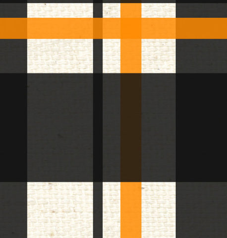 *SH - Black & Orange Canvas Plaid 8 1/2 x 11
