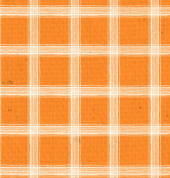 *OYH - Orange w/Natural Plaid 8 1/2 x 11