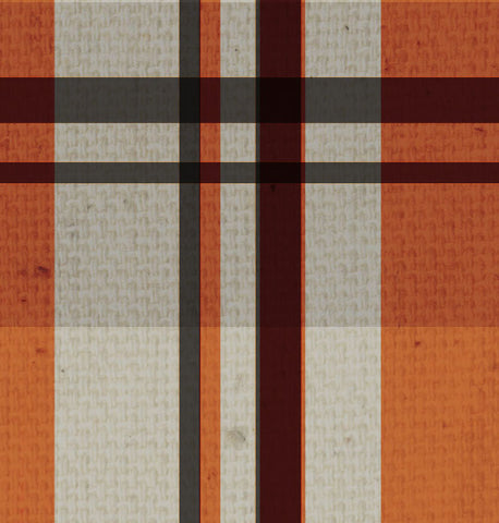 *OYH - Orange & Gray Plaid Canvas 8 1/2 x 11