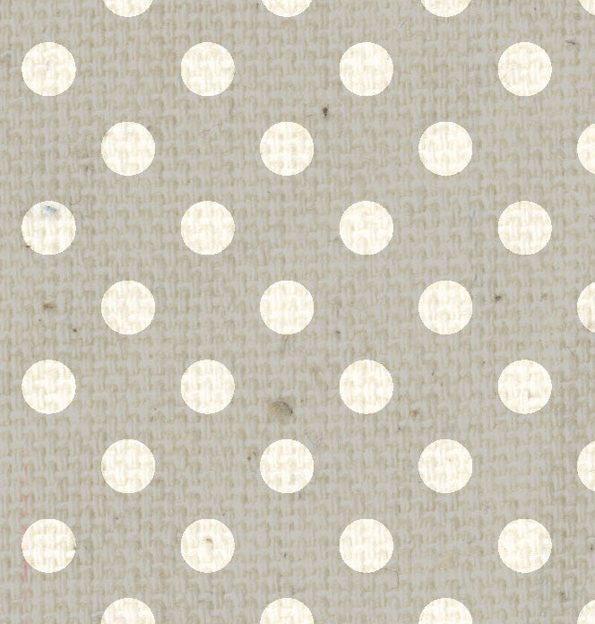 *HK - Gray Canvas Polka Dots 8 1/2 x 11