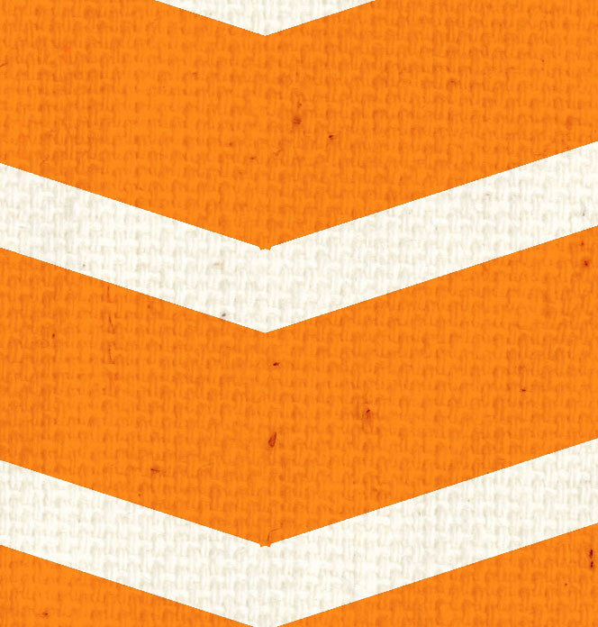 *Orange Canvas w/Lg. Natural Chevron 8 1/2 x 11