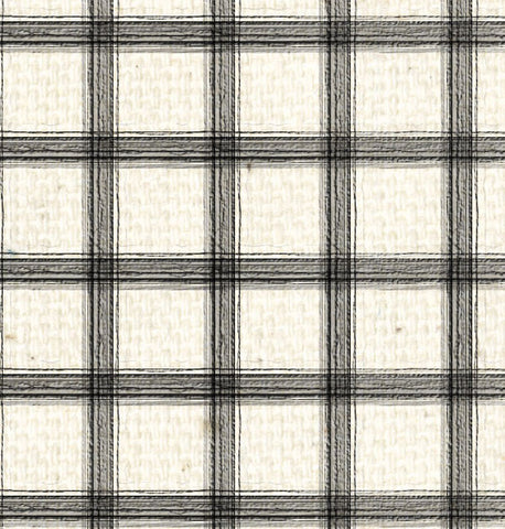 *SH - Natural Canvas w/Black Plaid 8 1/2 x 11