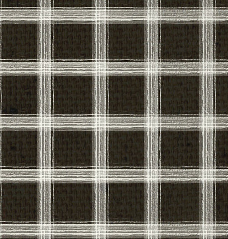 *SH - Black Canvas w/Natural Plaid 8 1/2 x 11