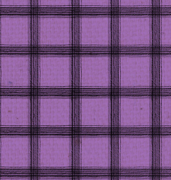 *SH - Purple Canvas w/Black Plaid 8 1/2 x 11