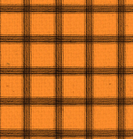 *OYH - Orange Canvas w/Black Plaid 8 1/2 x 11