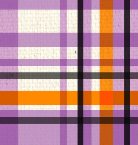 *SH - Purple & Orange Canvas Plaid 8 1/2 x 11