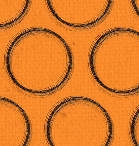 *OYH - Orange Canvas w/Black Circles 8 1/2 x 11