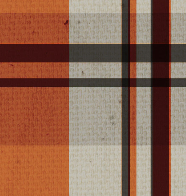 *HF - Happy Fall Plaid 8 1/2 x 11 - One Sheet