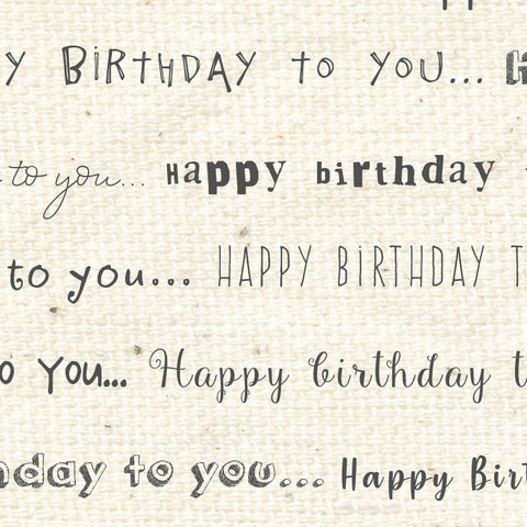 *******HBN - Happy Birthday Natural Paper  8 1/2 x 11