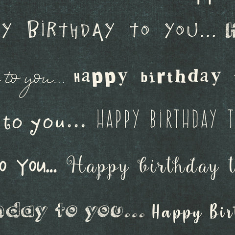 *******HBC - Happy Birthday Chalkboard Paper  8 1/2 x 11