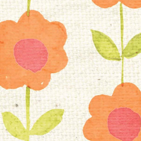 *****HSOPB - Orange Poppy Blooms Paper  8 1/2 x 11