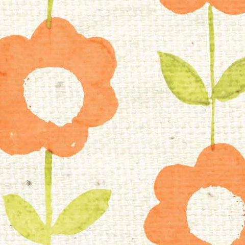 *****HSOPWCB - Orange Poppy Watercolor Blooms Paper  8 1/2 x 11