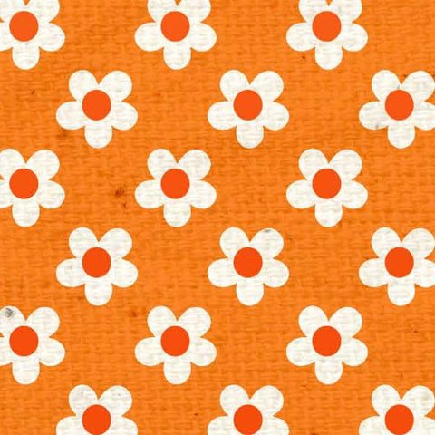 *****HSOPBB - Orange Poppy Baby Blooms Paper  8 1/2 x 11