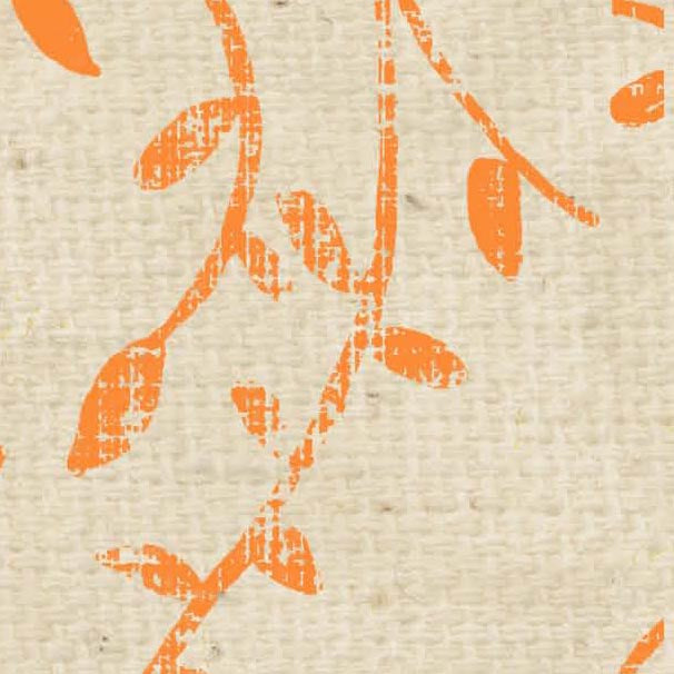 *HSOPSV - Orange Poppy Stenciled Vines Paper  8 1/2 x 11