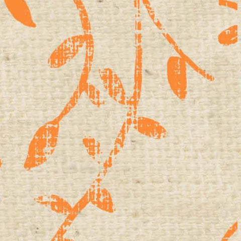 *****HSOPSV - Orange Poppy Stenciled Vines Paper  8 1/2 x 11