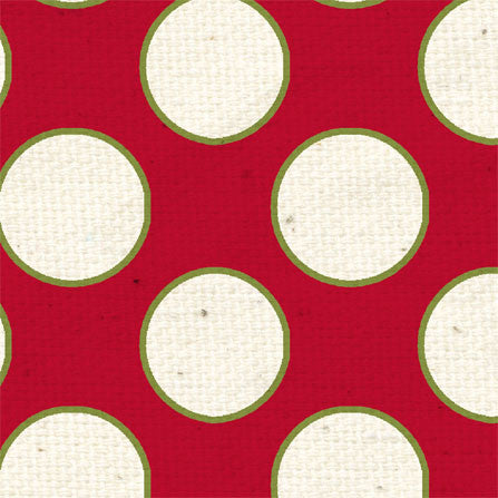 *HB - Holly Berry Large Polka Dots 8 1/2 x 11 - One Sheet