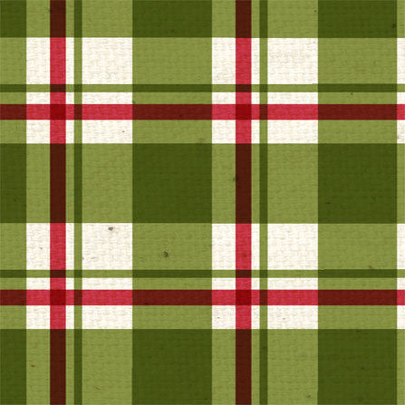 *HB - Holly Berry Plaid 8 1/2 x 11 - One Sheet