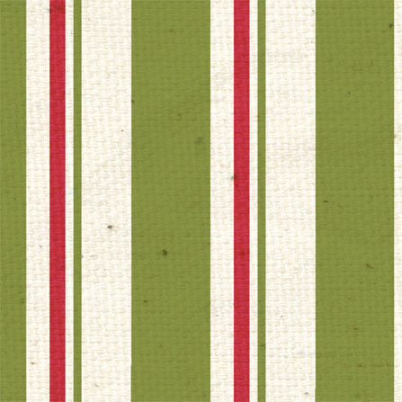 *HB - Holly Berry Stripes 8 1/2 x 11 - One Sheet