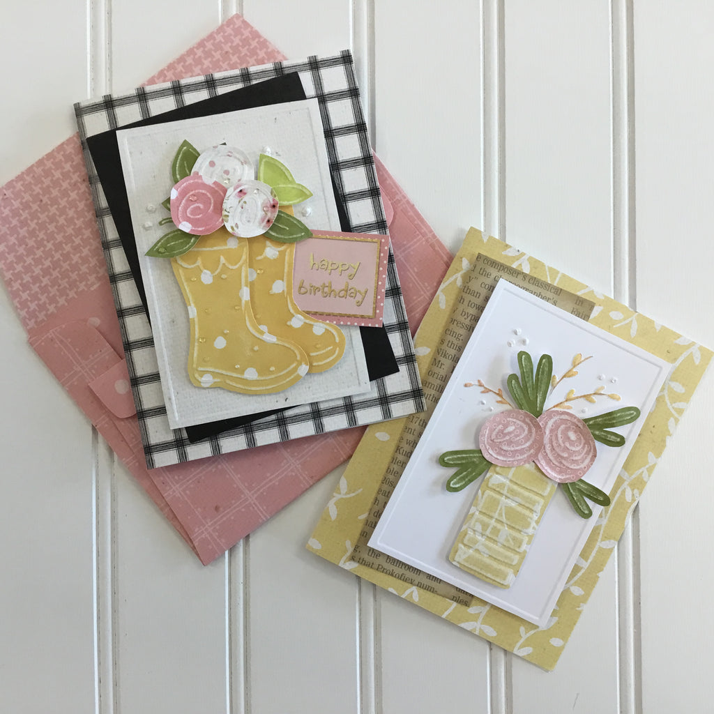 *****Rain Boots and Roses Card Kit
