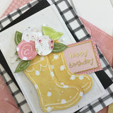 *******Rain Boots and Roses Card Kit
