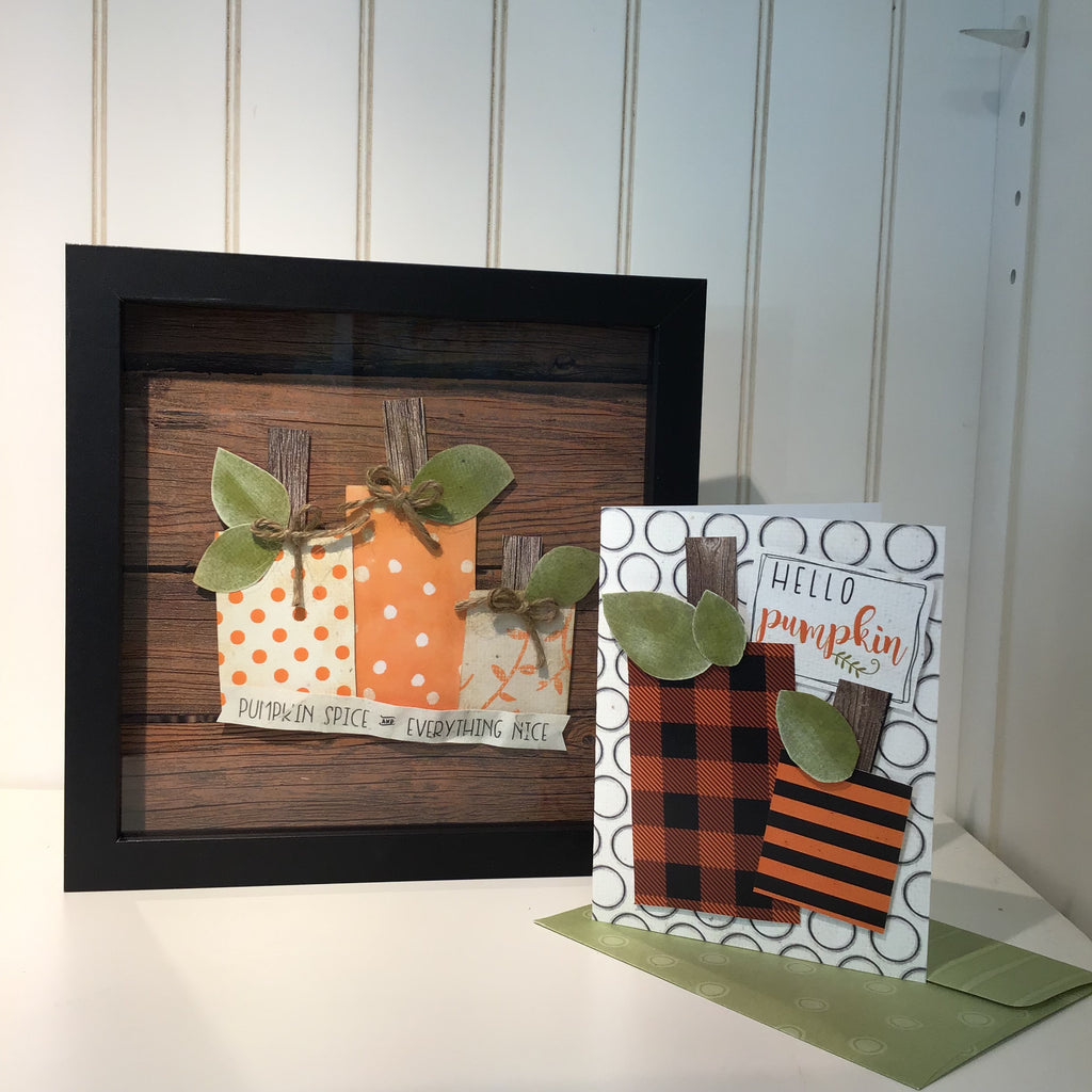 BOOtiful Card Camp -Hello Pumpkin & Pumpkin Spice Mini Kit - Make 3 Cards & a Wall Art