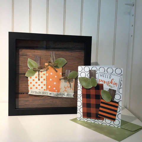 *******BOOtiful Card Camp -Hello Pumpkin & Pumpkin Spice Mini Kit - Make 3 Cards & a Wall Art