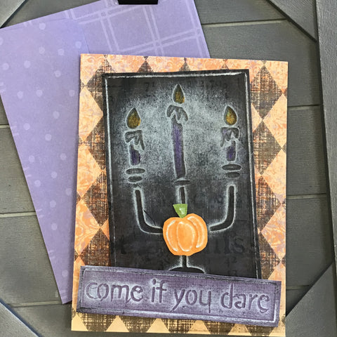 BOOtiful Card Camp - Come if You Dare Mini Card Kit - Makes 4 Cards