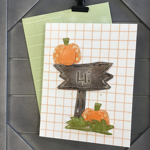 *******BOOtiful Card Camp - Pumpkin Greetings Mini Card Kit - Makes 4 Cards
