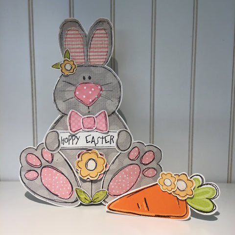 *******Bunny Shelf Sitter - Gray
