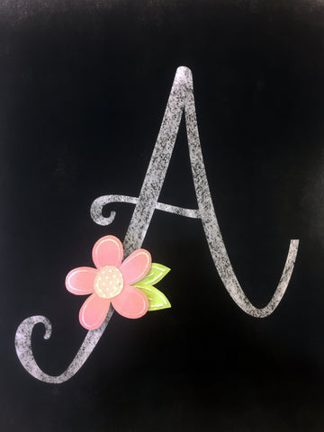 *****Chalk Art Script Monograms - 2 Sizes Available