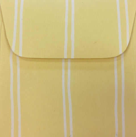 Banana Cream Stripe Doodle Tag Envelope - Set of 4