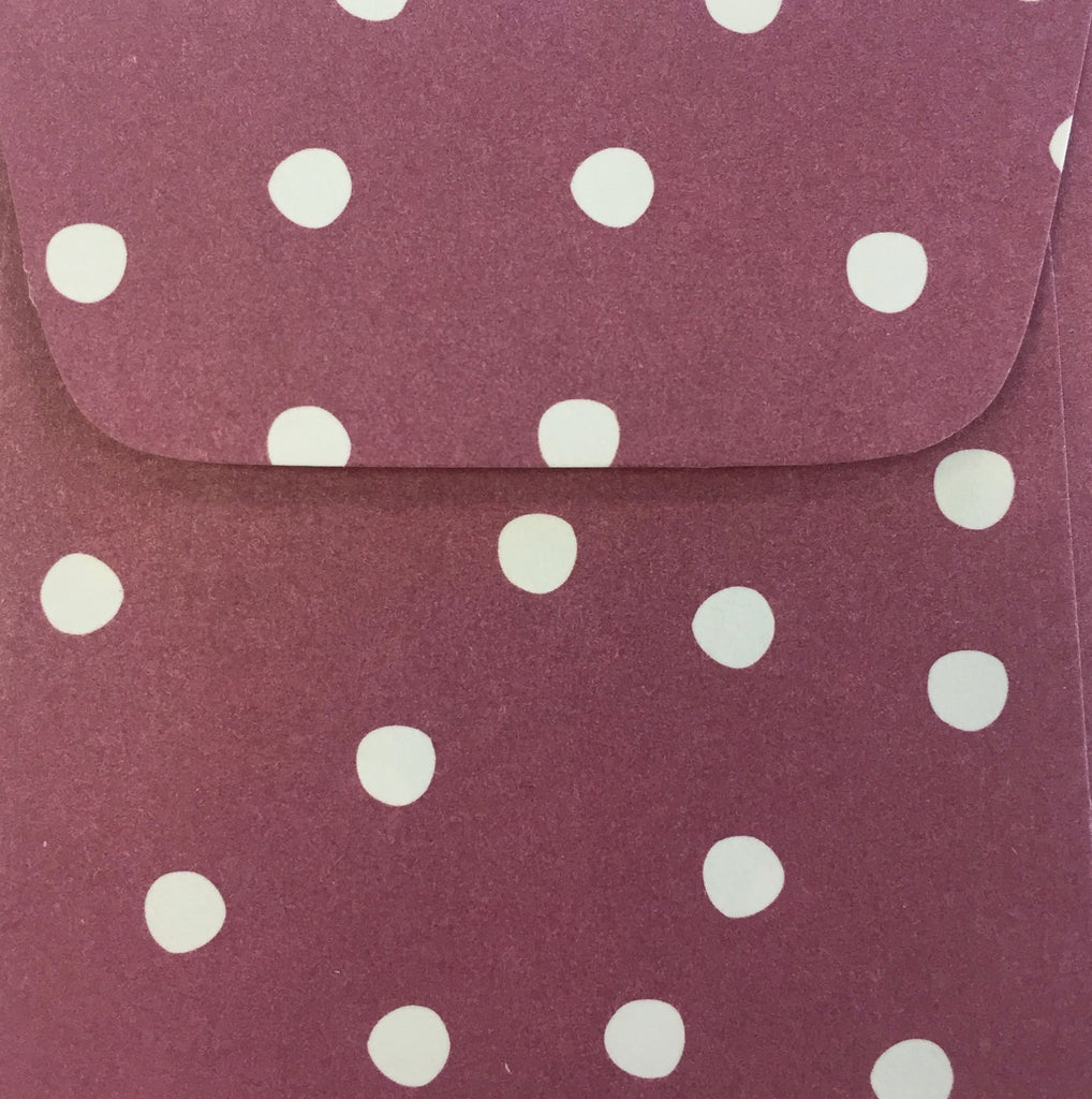 Berry Dots Doodle Tag Envelope - Set of 4