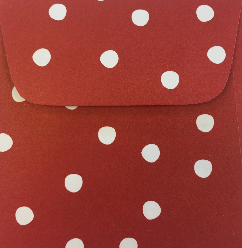 Cinnamon Dots Doodle Tag Envelope - Set of 4