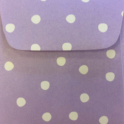 Lilac Dots Doodle Tag Envelope - Set of 4