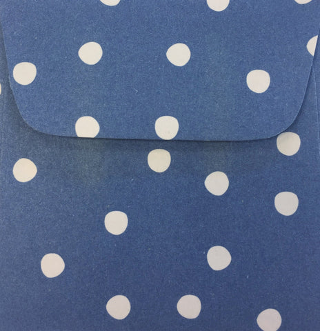 Denim Dots Doodle Tag Envelopes - Set of 4
