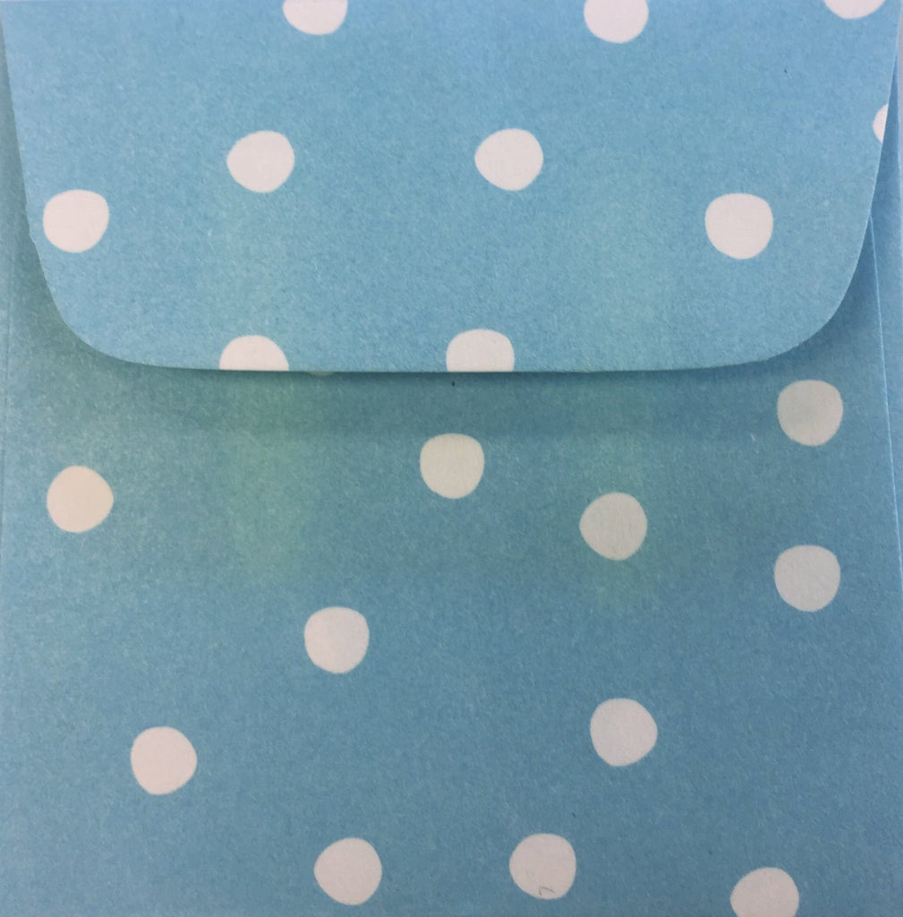 Boardwalk Blue Dots Doodle Tag Envelopes - Set of 4