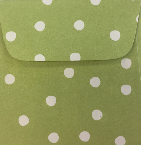 Kiwi Dots Doodle Tag Envelopes - Set of 4