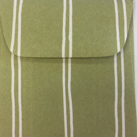Celery Stripe Doodle Tag Envelope - Set of 4