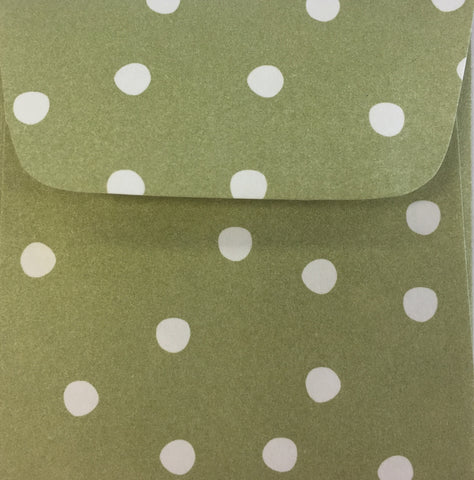 Celery Dots Doodle Tag Envelopes - Set of 4