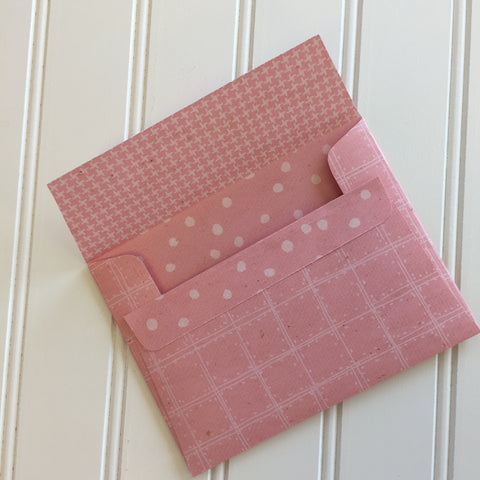 A2 Envelopes DIY Pink Geranium Reversible