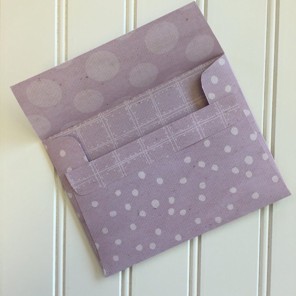 A2 Envelopes DIY Vintage Lilac Reversible