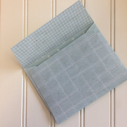 French Blue Reversible DIY A2 Envelopes