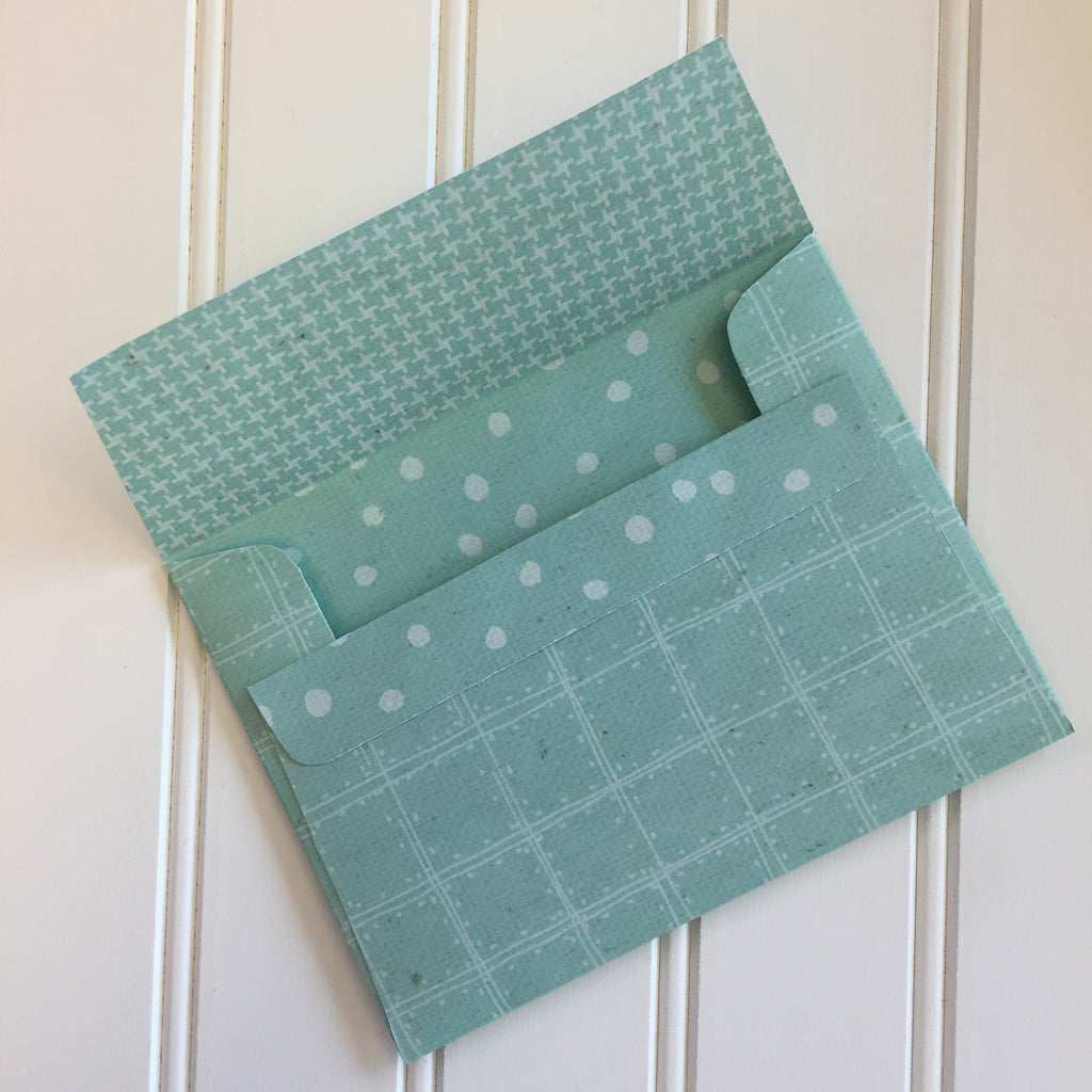 Sea Foam Reversible DIY A2 Envelopes