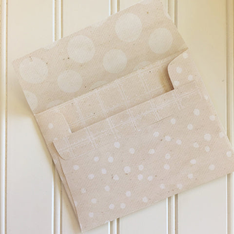 Baby's Breath Reversible DIY A2 Envelopes