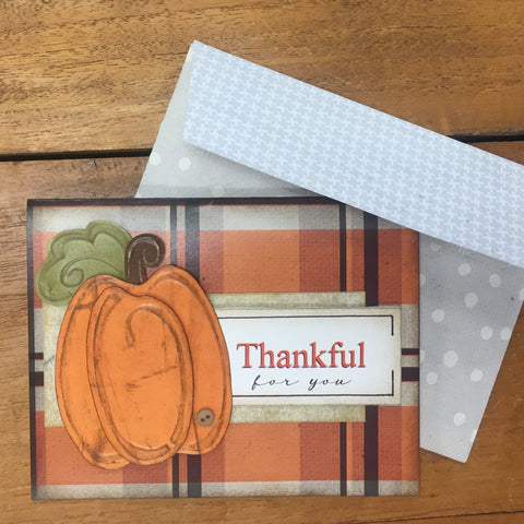 Thankful For You Card Kit - Creates 4 Embossed Cards