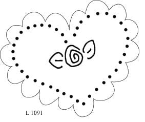 L1091 - Scalloped Heart with Flower