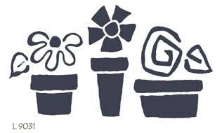 L9031 - Row of Flower Pots